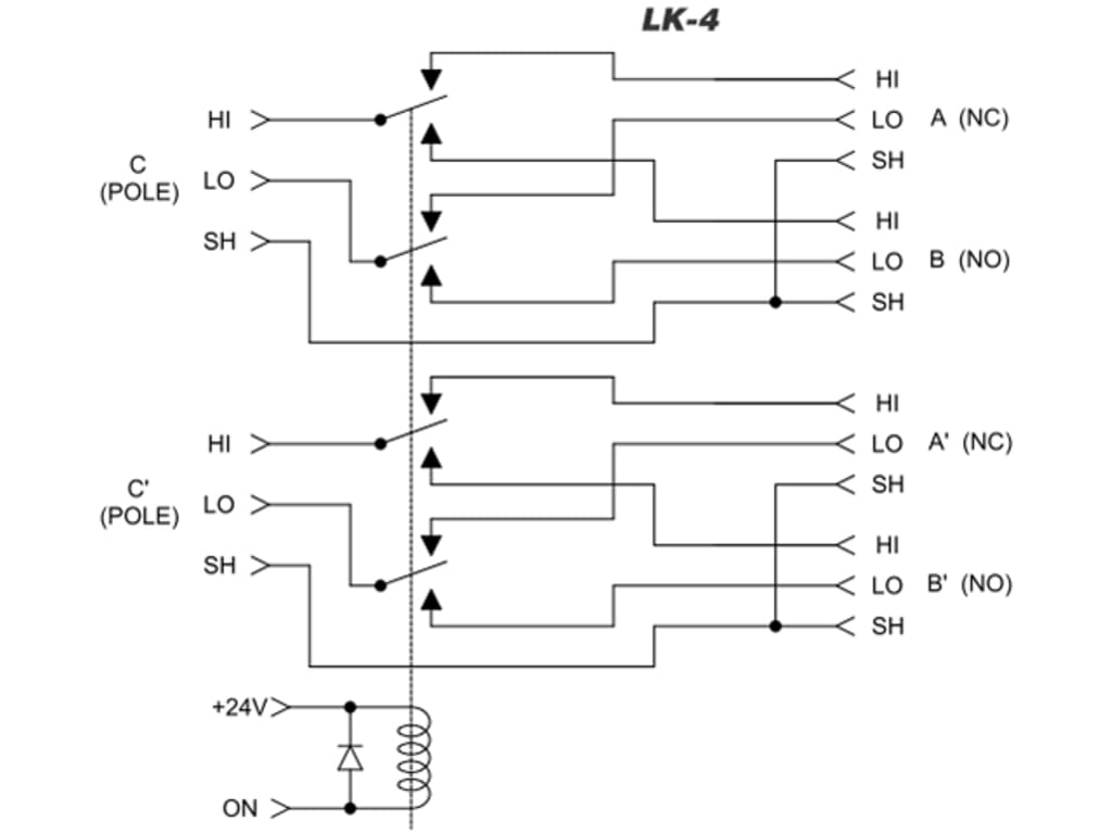 Fsr Lk 4 Audio Relay Card For Audio Switching Applications