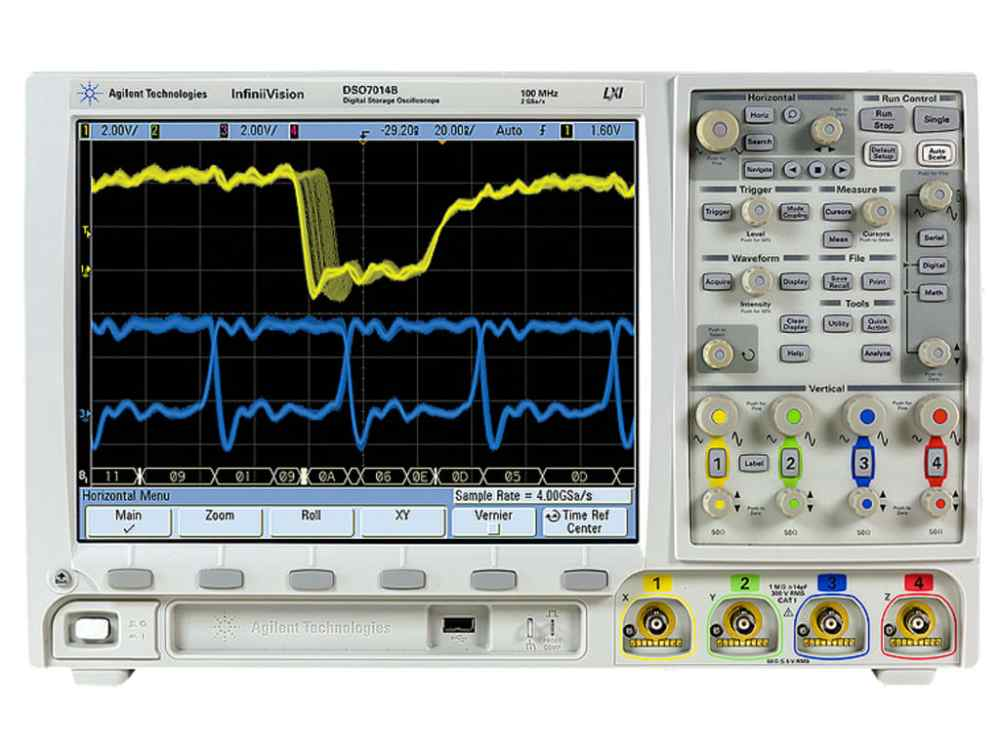 medium resolution of agilent mso7104b 7000b series mixed signal 4 16 channel 1 ghz infiniivision oscilloscope
