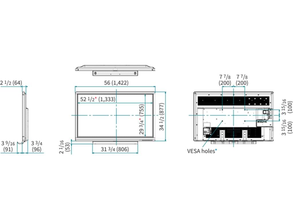 Sharp PN-C605B 60-inch AQUOS BOARD Interactive Display