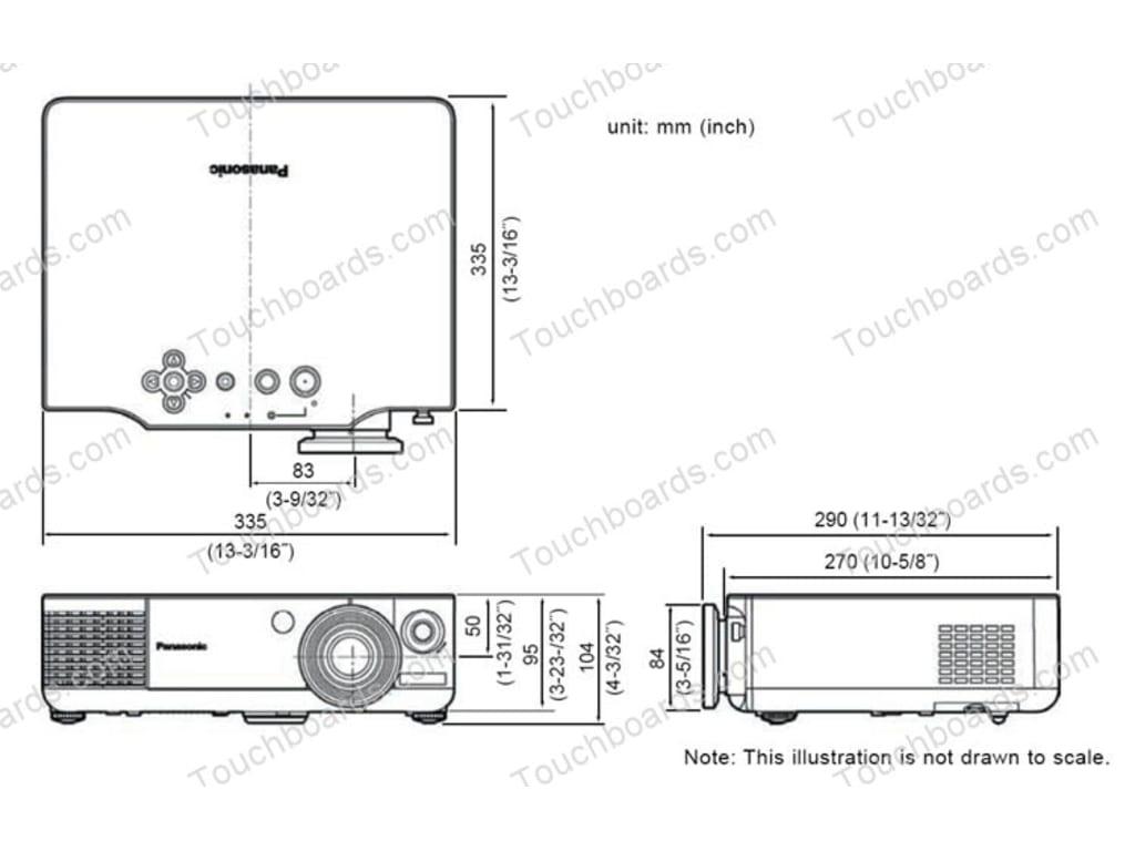 Panasonic PT-AE900U Projector Widescreen High Definition