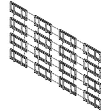 Sharp PN-PW440 Bundled Hardware for 4x4 Wall Mount