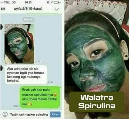 Masker Penghilang Mata Panda Spirulina