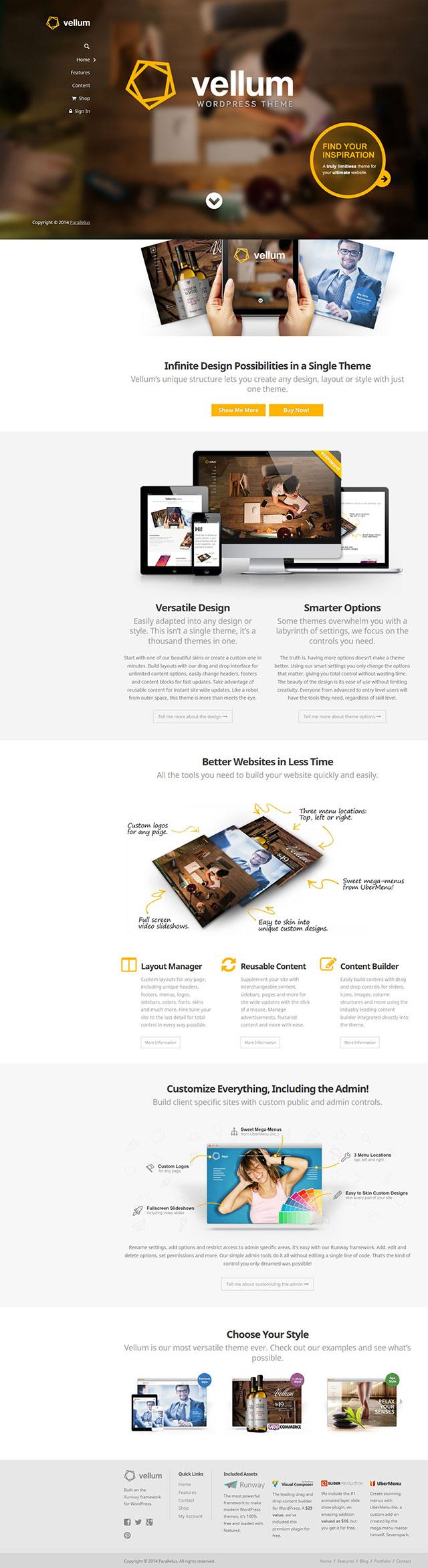 WebDesign bei innotag mit dem Vellum WordPress Theme