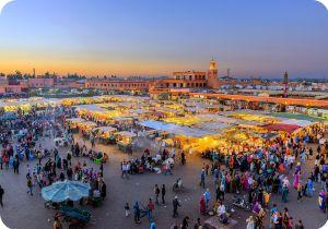 Marrakech main Place Jamaa El Fna