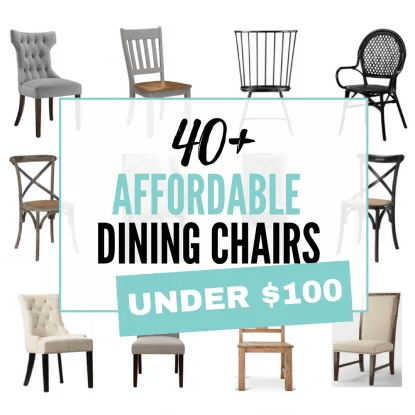 40 plus affordable dining chairs on a budget