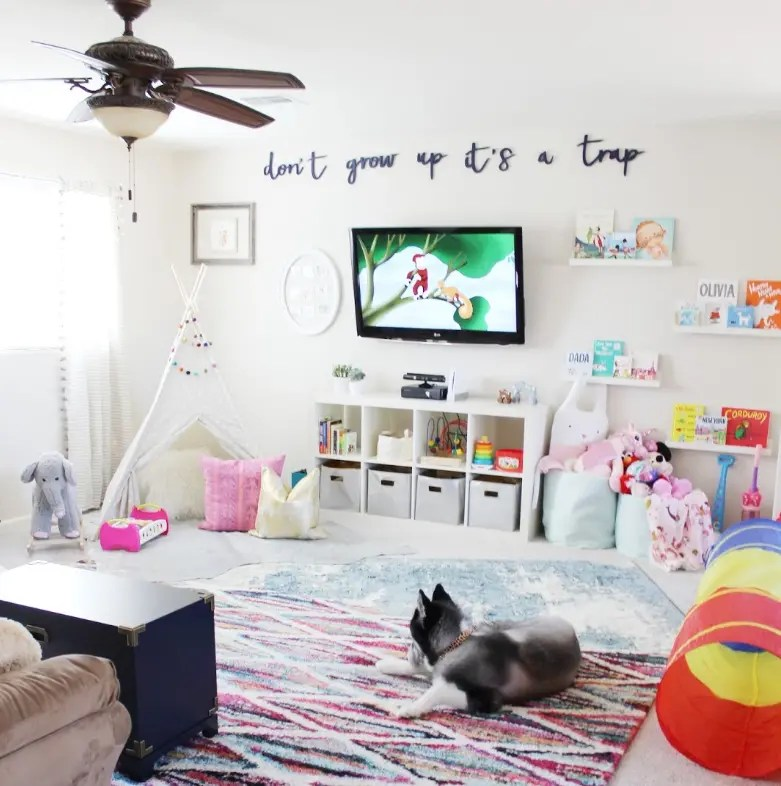 Colorful Playroom Design: 10 Amazing Kids Playroom Makeover Ideas You'll LOVE