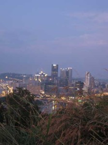 The gorgeous city of Pittsburgh.