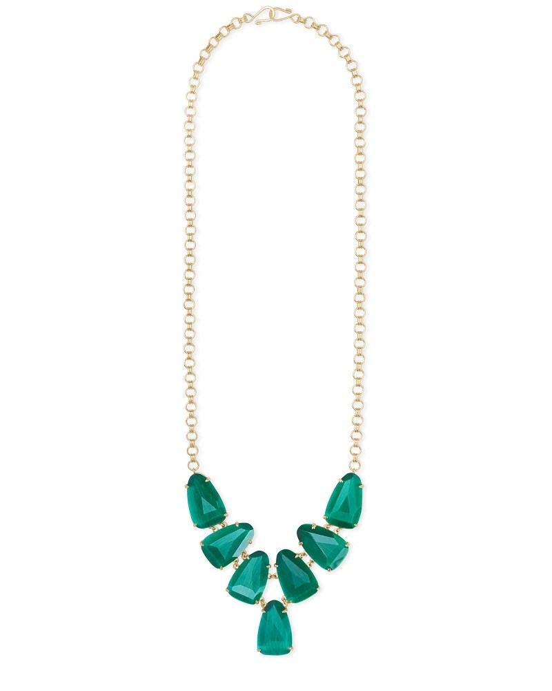 Cats Eye Necklaces : necklaces, Harlie, Statement, Necklace, Emerald, Kendra, Scott