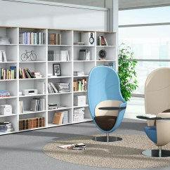 Leanback Lounger Chairs Football Helmet Shaped Chair Lean Back And Relax As You Work Konig Neurath Place Lounge