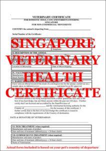 Singapore Veterinary Certificate