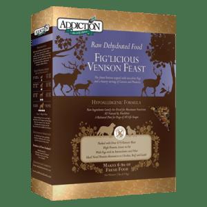Addiction Fig'licious Venison Feast Grain Free Raw Dehydrated Dog Food