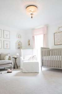 a classic, polished pink nursery for a baby girl - Lay ...