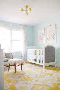 bright and airy nursery with the baby relax luna ...