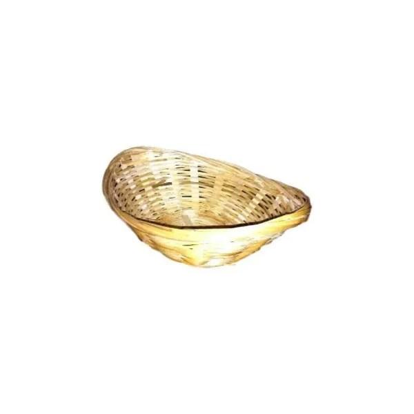 Corbeille ovale en bambou