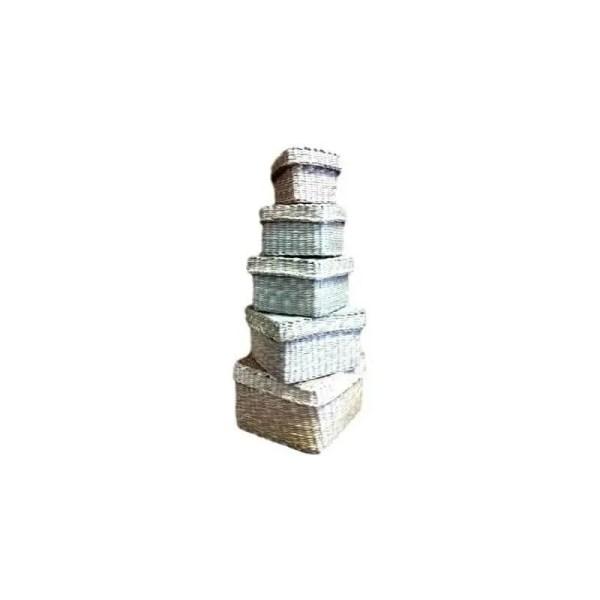 Mini coffret carré en jonc 13cm