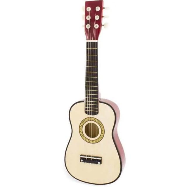 Guitare en bois,jeu musical