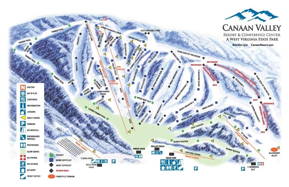 Trail Canaan Map Resort Ski Valley