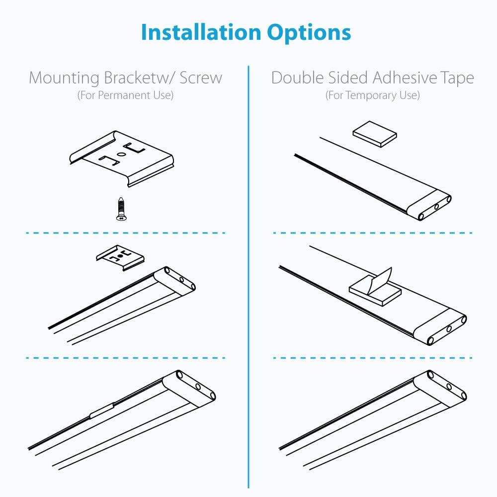 12 Inch Cool White Modular LED Under Cabinet Lighting