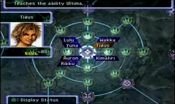 Final Fantasy X Standard Sphere Grid Vs Expert Sphere