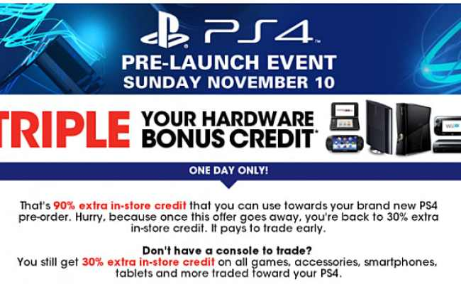 Gamestop To Host Ps4 Pre Launch Events