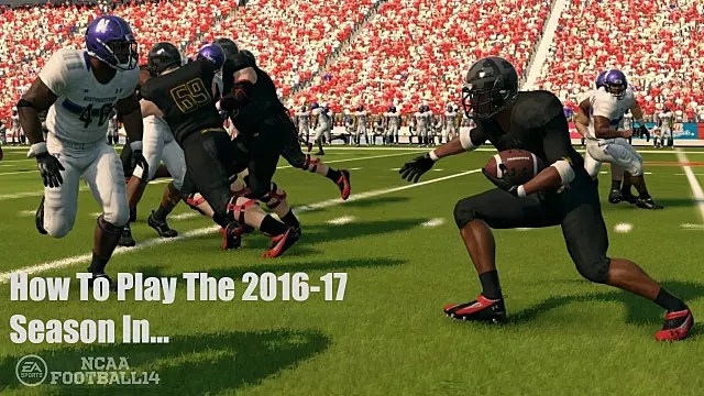 How To Play 2016 College Football Season In NCAA Football