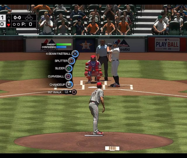 View From Behind The Pitcher Displaying His Various Pitch Types In Mlb The Show 18