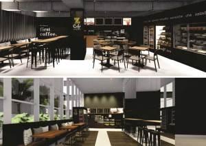 Arquitetura de Aline Fuhrmeister para o Z Café