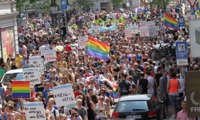 Christopher Street Day celebrations in Munich, Germany. Photo: Erwin Harbeck (image courtesy of German National Tourist Office)