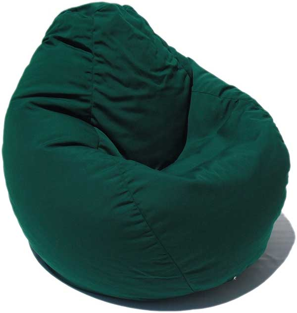 green bean bag chair leather dining modern outdura forest custom furniture and flooring