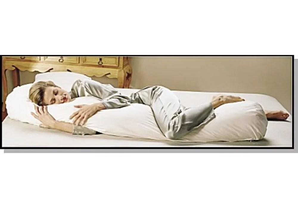 sleeping bean body pillow cover 66 x10 burgundy hypo allergenic