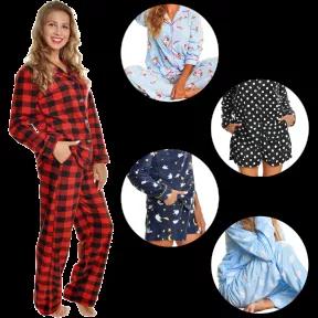 3-piece fleece pajamas seen on Extra TV
