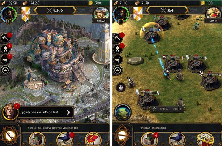 Criação de castelos e tropas