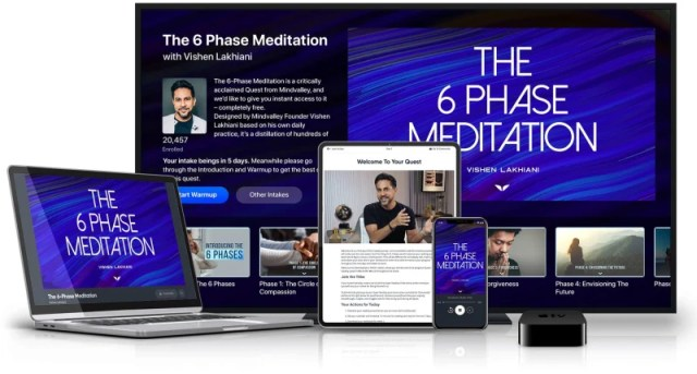 The 6 Phase Meditation on various devices