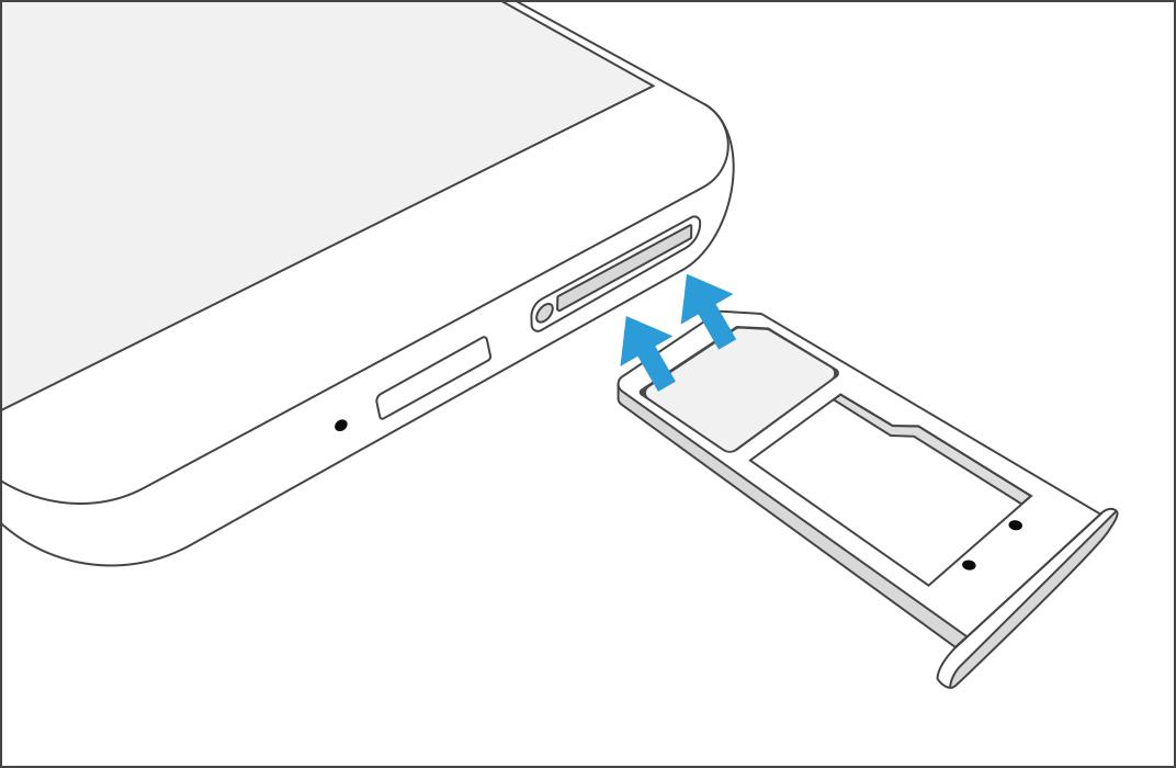 How do I install my SIM card on my Samsung Phone?