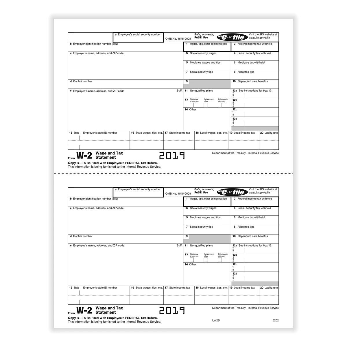 Form W 2 Copy B
