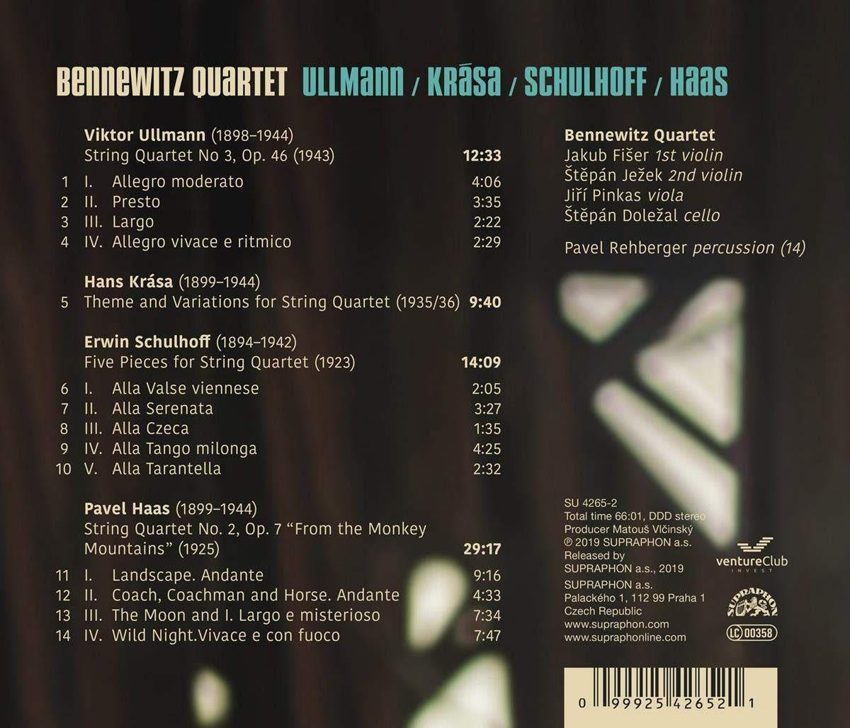 Photo No.2 of Ullmann, Krasa, Schulhoff, Haas: String Quartets