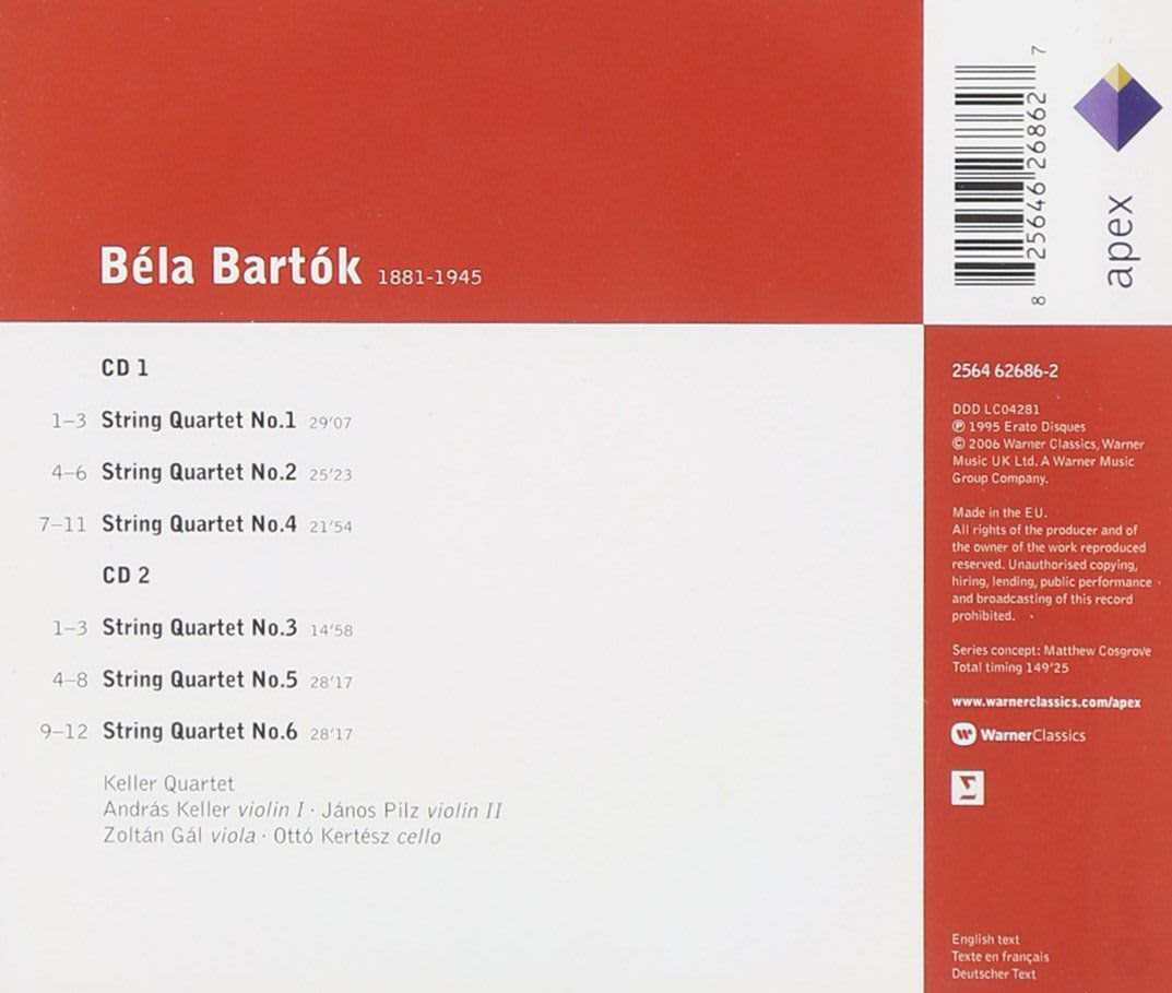 Photo No.2 of Bartók: String Quartets Nos. 1-6