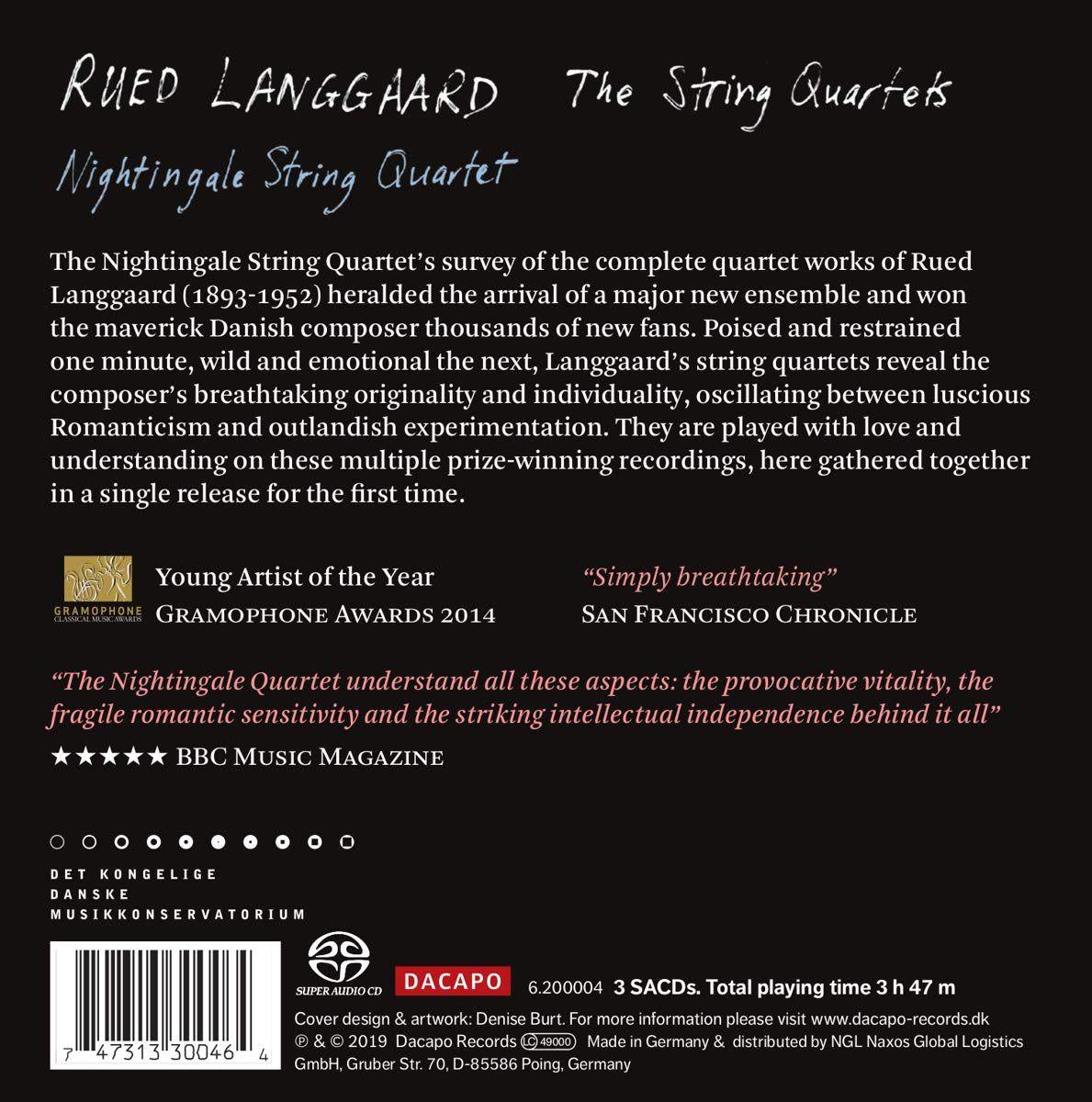 Photo No.2 of Rued Langgaard: The String Quartets