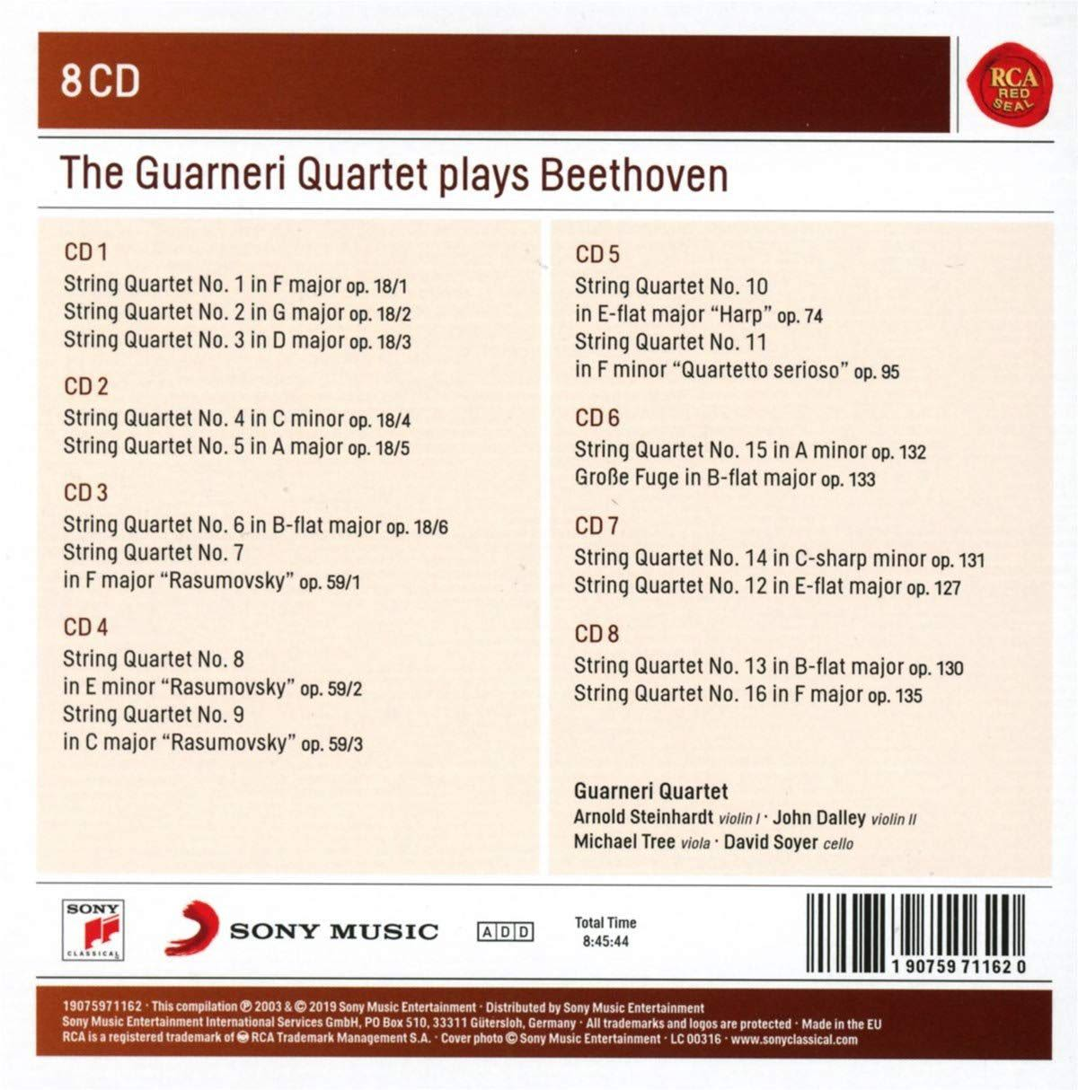 Photo No.2 of The Guarneri Quartet Plays Beethoven