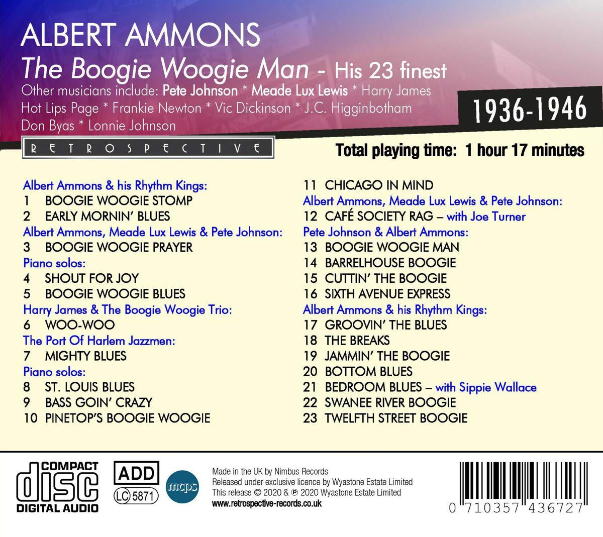 Photo No.2 of Albert Ammons: The Boogie Woogie Man - His 23 Finest 1936-1946