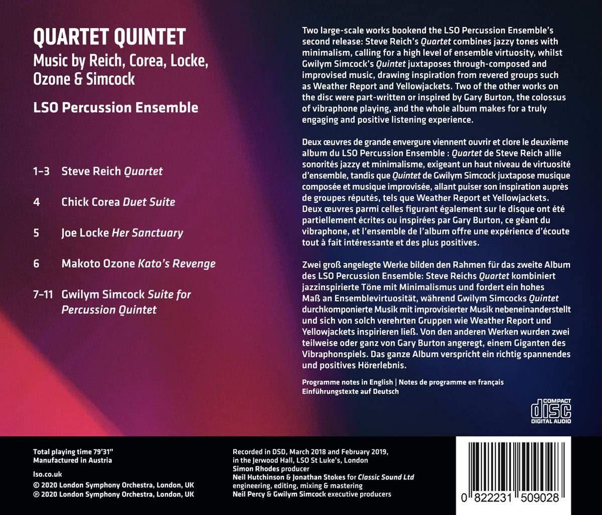 Photo No.2 of Lso Percussion Ensemble: Quartet Quintet