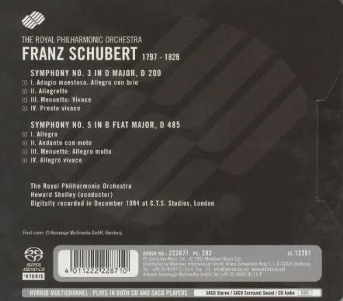 Photo No.2 of Franz Schubert: Symphonies No. 3 & 5