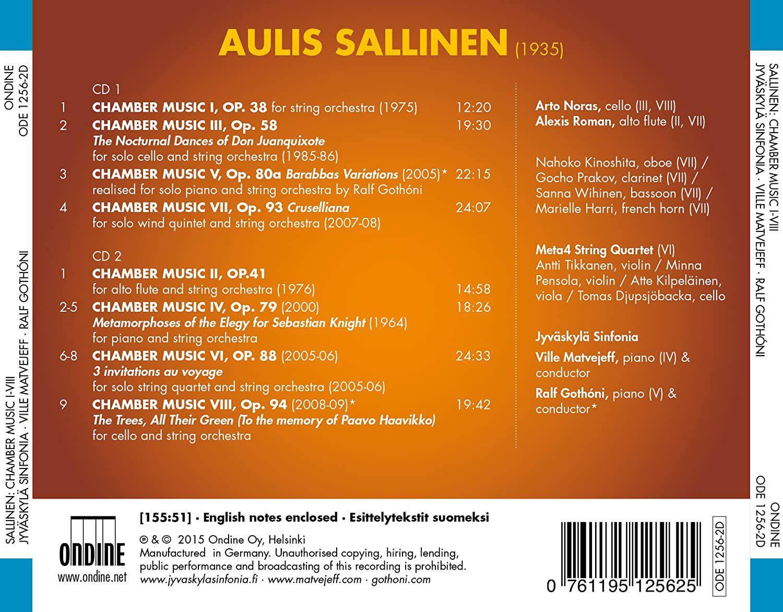 Photo No.2 of Aulis Sallinen: Chamber Music I-VIII