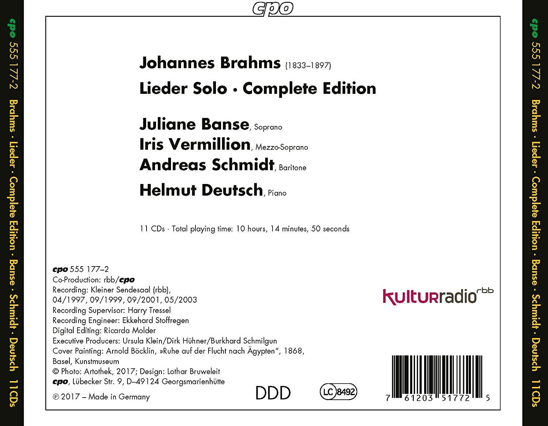 Photo No.2 of Brahms: Lieder Complete Edition