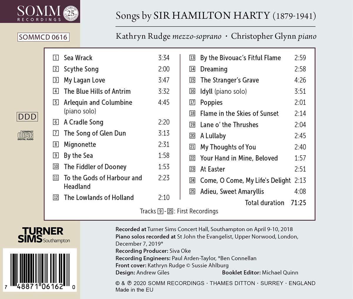 Photo No.2 of Songs by Sir Hamilton Harty