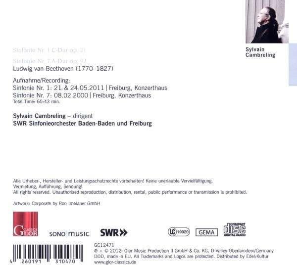 Photo No.2 of Beethoven: Symphonies Nos. 1 & 7