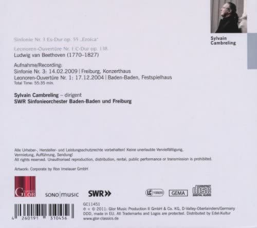 Photo No.2 of Beethoven: Symphony No. 3 & Leonora Overture No. 1