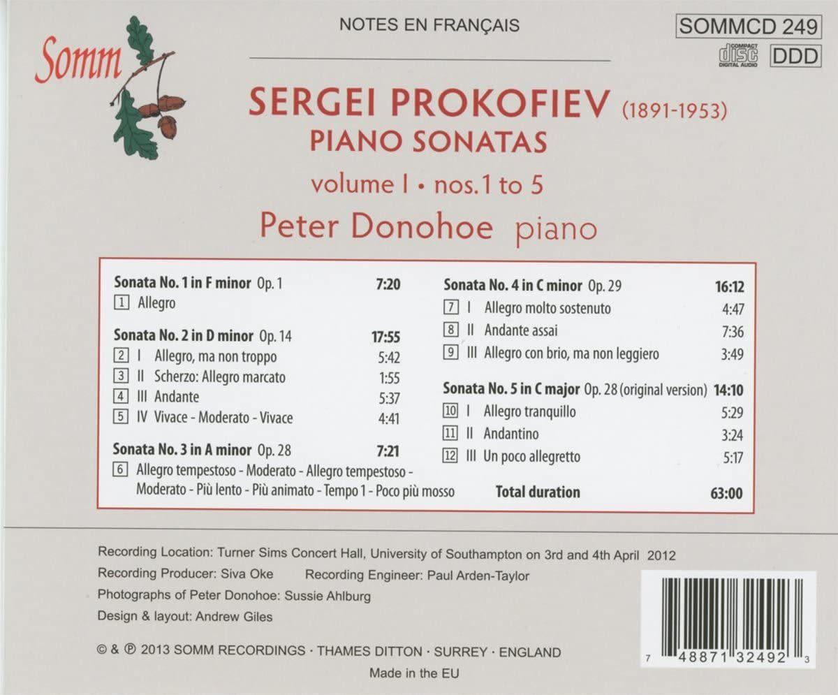 Photo No.2 of Prokofiev: Piano Sonatas Vol. 1
