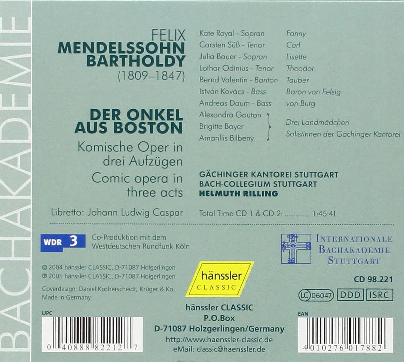 Photo No.2 of Mendelssohn: Der Onkel aus Boston (The Uncle from Boston)
