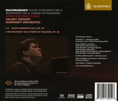 Photo No.2 of Rachmaninov - Rhapsody on a Theme of Paganini & Piano Concerto 3